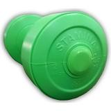 STAMINA 2x Plastic Dumbbell 2kg [ST-800-2CG] - Green - Barbell / Dumbbell